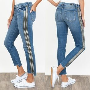 NWT Kut from the Kloth Reese Varsity Stripe Jeans